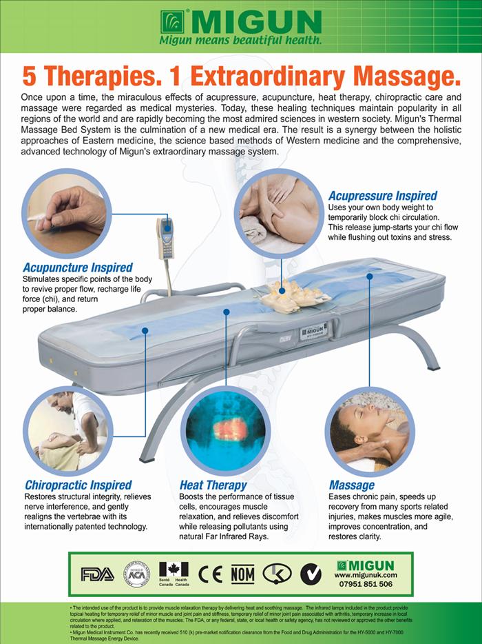 Migun thermal massage table